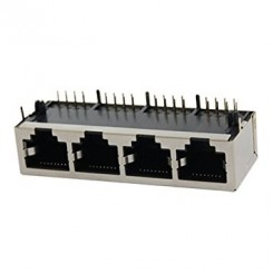 Rj45 8p Metal Shield 1x4