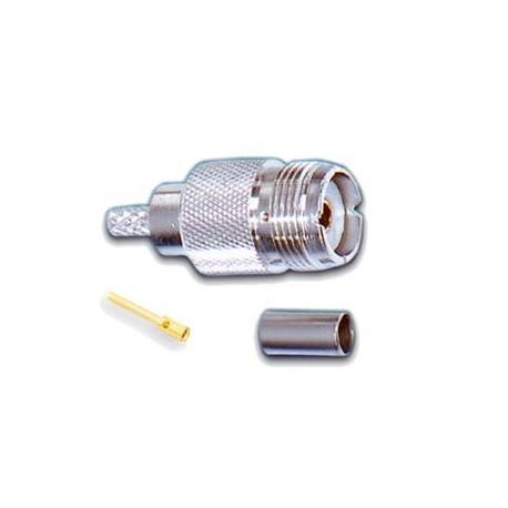کانکتور UHF مادگی لحیمی سر کابل RG213