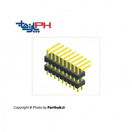 پین هدر نری 2x40 نود درجه رایت 2.54mm