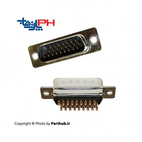 D-Sub Solder Male three Row High Density 26 pin Connector