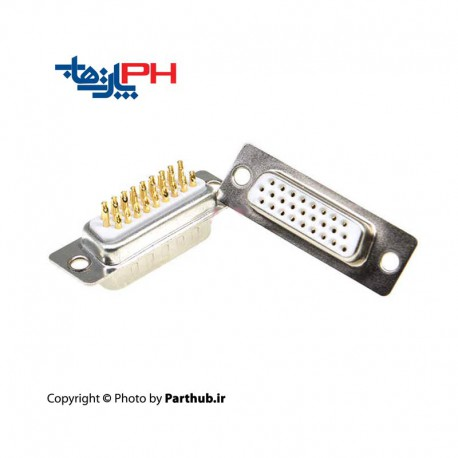 D-Sub machine pin solder female 3 row