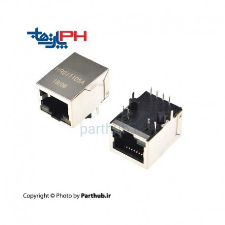 Rj45-HR911105A 8p With LED & Filter