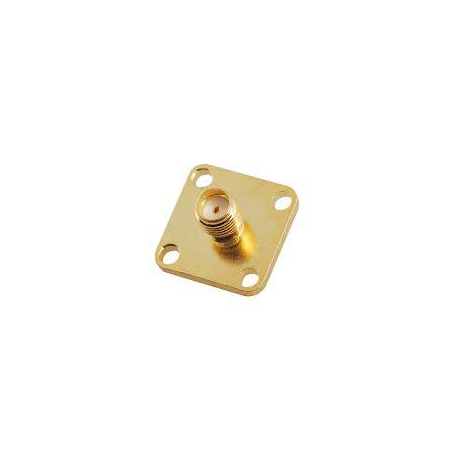 SMA FEMALE PCB Mount 4HOLE RF Connector