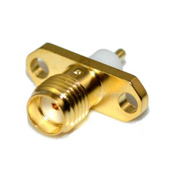 تفلن کوتاه SA6721 SMA FEMALE 2HOLE Panel Mount RF Connector