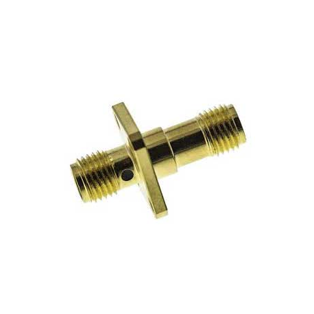 SMA Female to SMA Female 4 Hole RF Connector Adapter