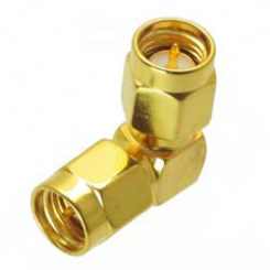 SA6735 SMA Male to SMA Male Right Angle RF Connector Adapter