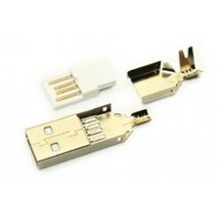 USB A Type Male Solder
