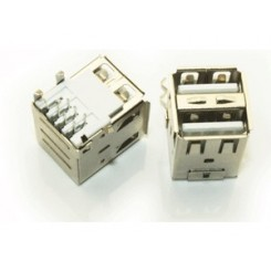 USB A Type FeMale Right Angle Double