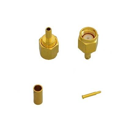 کانکتور SMA RIGID نری سرکابلی لحیمی قابل اتصال به کابل RG141 و RG402