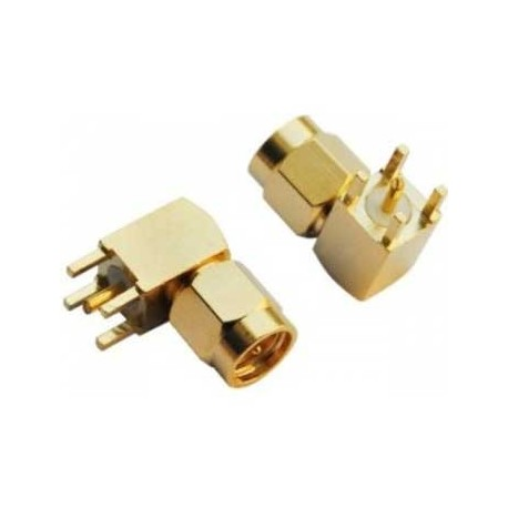 SMA Male PCB Mount Right Angle RF Connector