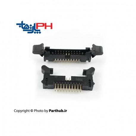 باکس هدر قفلدار 2*5 (10 پین) 2.00mm صاف (ST)