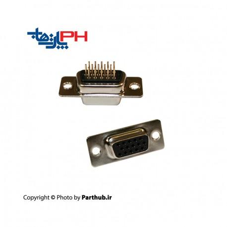 D-SUB رو بردی صاف سه ردیفه (HD) ماده 15 پین