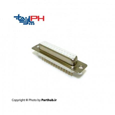 D-Sub رو بردی صاف (Vertical ) صنعتی ماشین پین 25 پین ماده