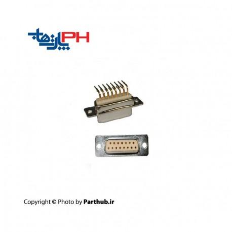 D-Sub رو بردی نود درجه (RA) صنعتی 15 پین ماده