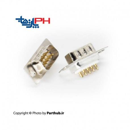 D-Sub machine pin gold 9 pin Male