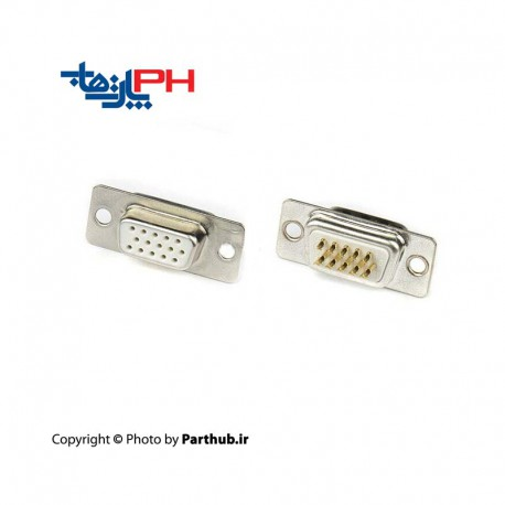 D-Sub machine pin solder female 3 row