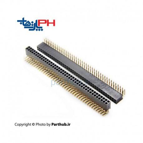 پین هدر مادگی 2x40 استریت 2.54mm
