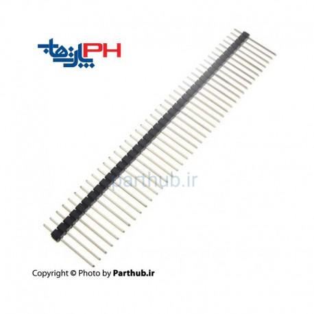 پین هدر نری 1x40 استریت بلند(27mm)2.54mm
