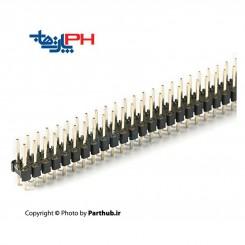 پین هدر نر 2x40 صاف 2.54mm بلند (21mm)