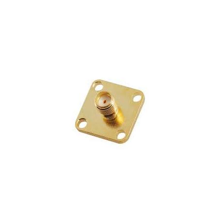 SMA FEMALE PCB Mount 4HOLE RF Connector