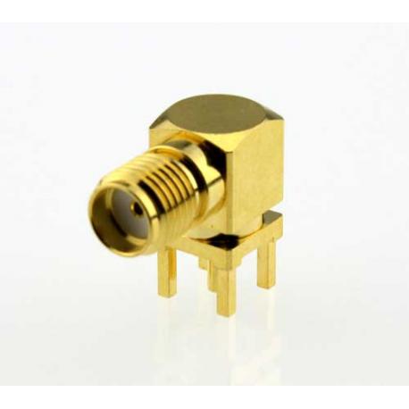 SMA Female PCB Mount Right Angle RF Connector