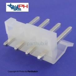 کانکتور پاور بدون قفل (CH) نر 4 پین 3.96mm صاف (ST)