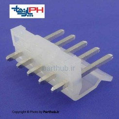 کانکتور پاور بدون قفل (CH) نر 5 پین 3.96mm صاف (ST)