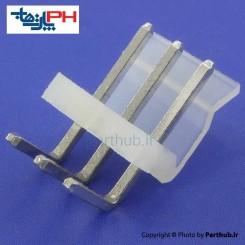 کانکتور پاور بدون قفل (CH) نر 3 پین 3.96mm نود درجه (RA)
