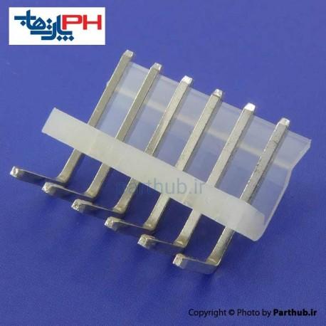 کانکتور پاور بدون قفل (CH) نر 6 پین 3.96mm نود درجه (RA)