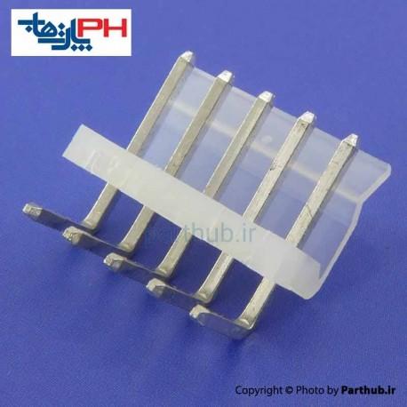 کانکتور پاور بدون قفل (CH) نر 5 پین 3.96mm نود درجه (RA)
