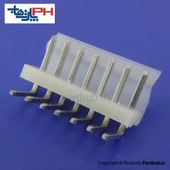 کانکتور پاور بدون قفل (CH) نر 7 پین 3.96mm نود درجه (RA)